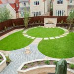 Circular Themed Town Garden with Water Feature