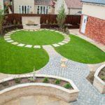 Circular Themed Town Garden
