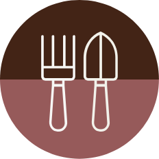 Fork and Shovel Icon